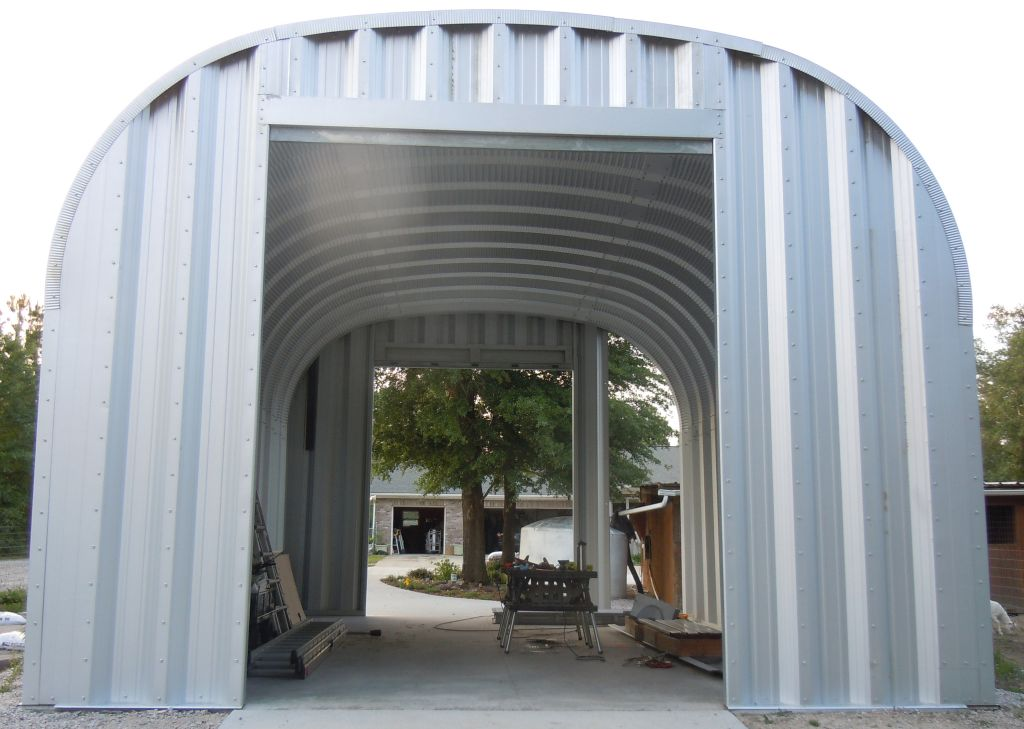 Rear Wall Complete and Ready for Roll-up Door