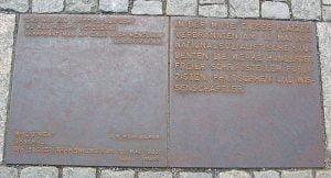 Bronze Plaque in Bebelplatz with Heinrich Heine Quote
