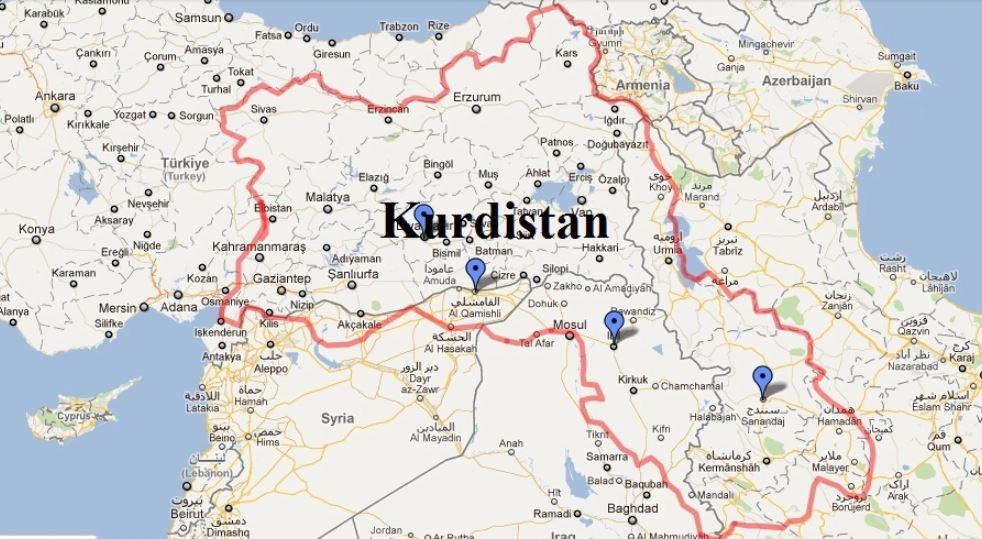 Map of Conceptual Kurdistan