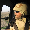 Brian in Blackhawk helicopter somewhere over Iraq 2005