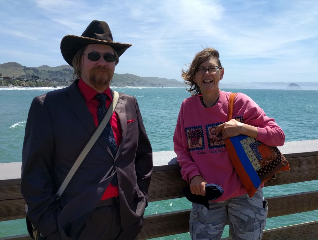Christian and Sue at Cayucos Pier