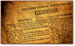 Old Bible Genesis Title Paga