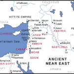 "Map of Andient Middle East showing the homelands ofall the ""ites"""