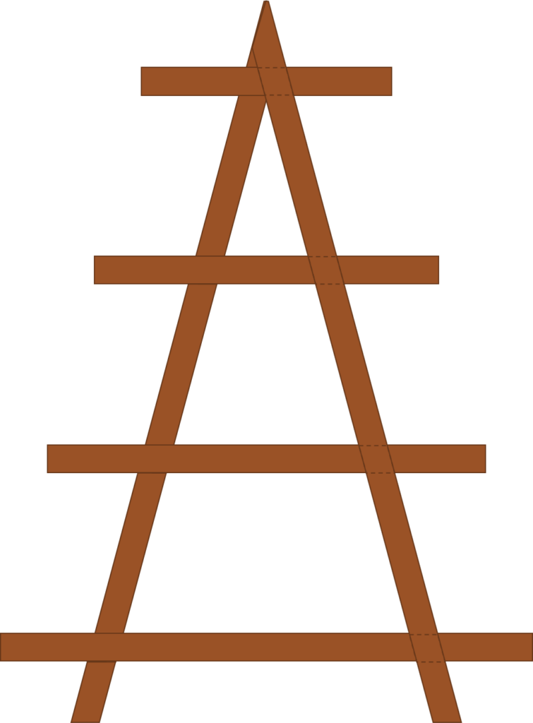 A-frame assembly diagram.