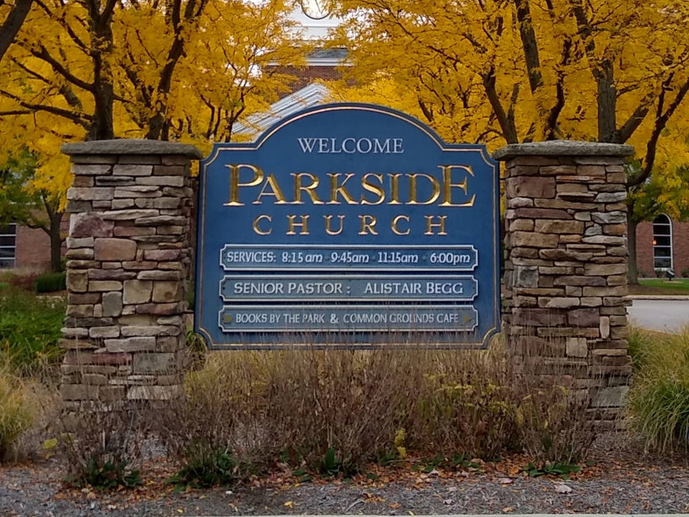 Parkside Church Welcome Sign