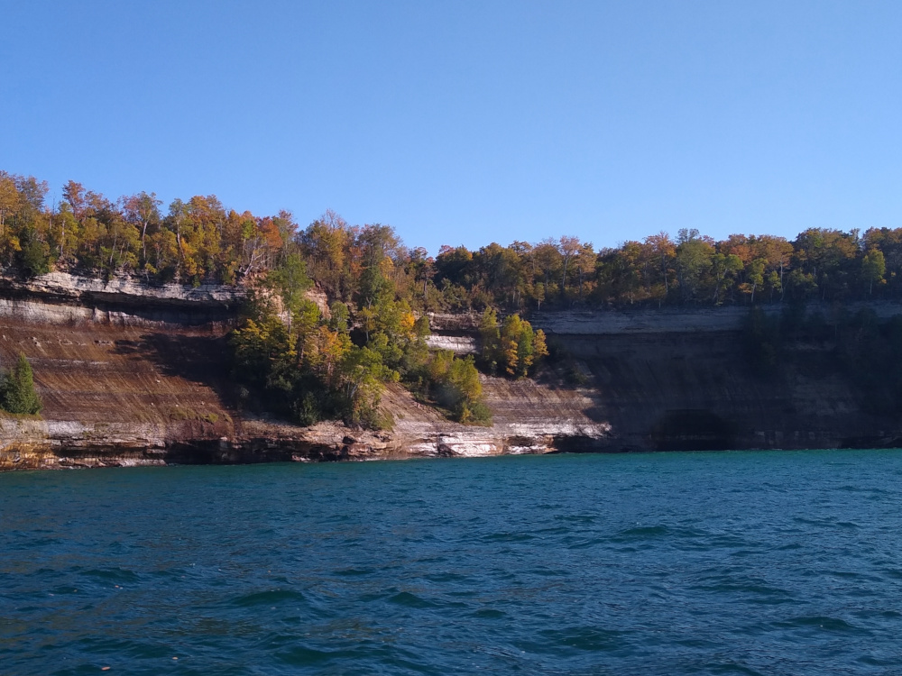 First Glimpse of the Pictured Rock Cliffs