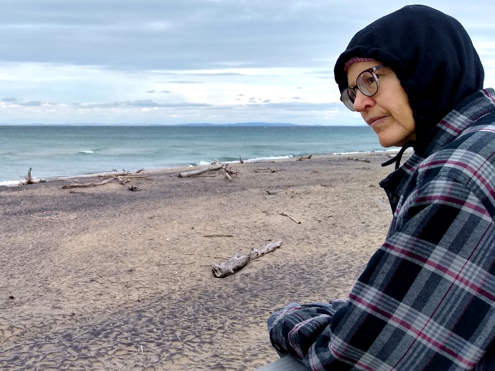 Sue at Whitefish Point